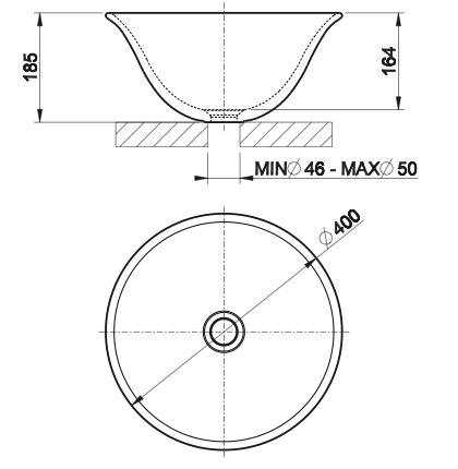 Gessi, Goccia Lavabo Nero-diametro 40 cm   Bertani