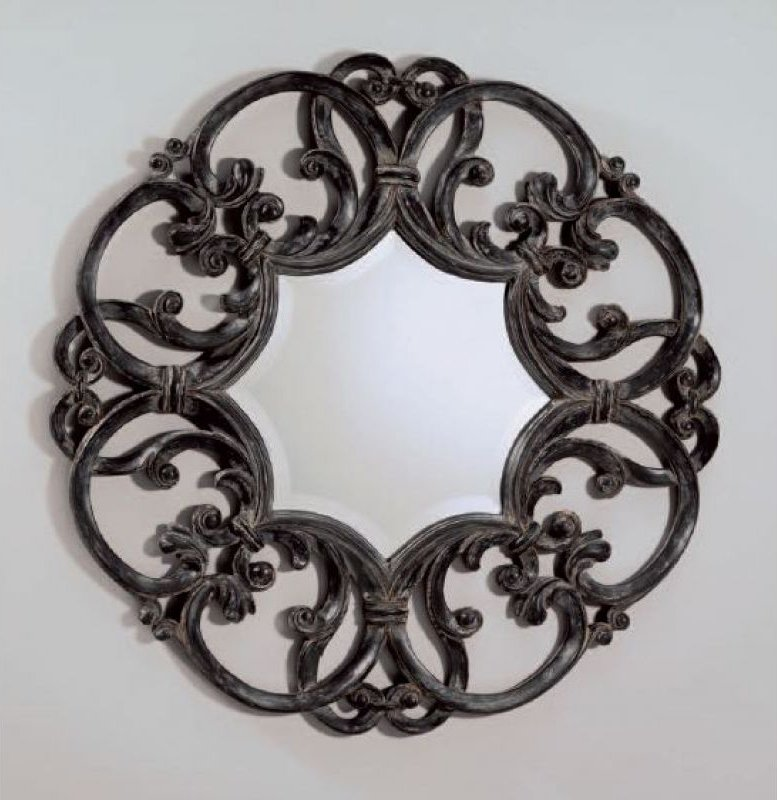 Devon&Devon, Black Amelie Specchio Diametro 89 cm