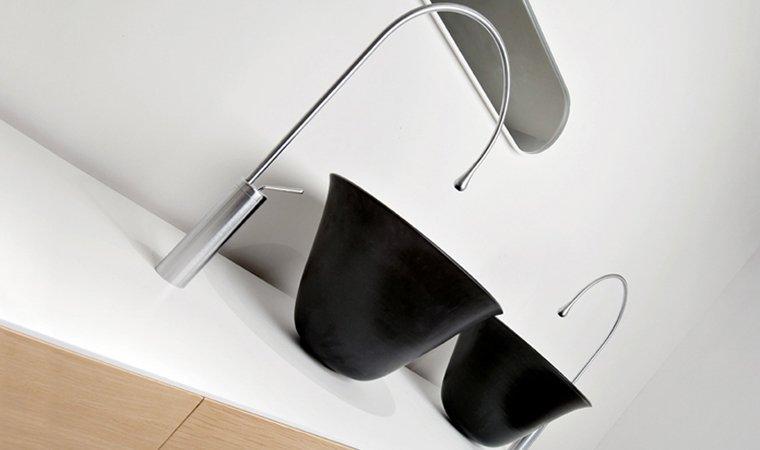 Gessi, Goccia Lavabo Nero-diam.50 H30 cm
