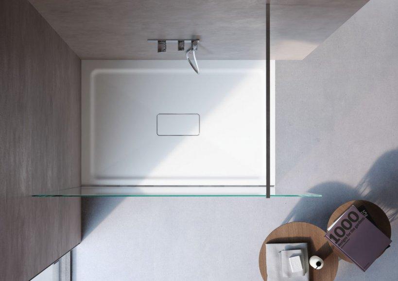 Disenia, Catino Piatto doccia 140x80 cm CEMENTO