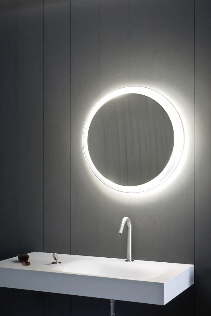 Agape, Solid Specchio con illuminazione diametro 60 cm