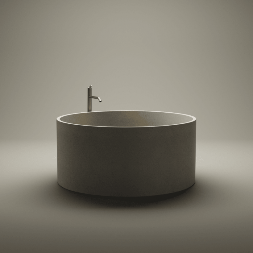 Agape, In-Out Cemento Bathtub
