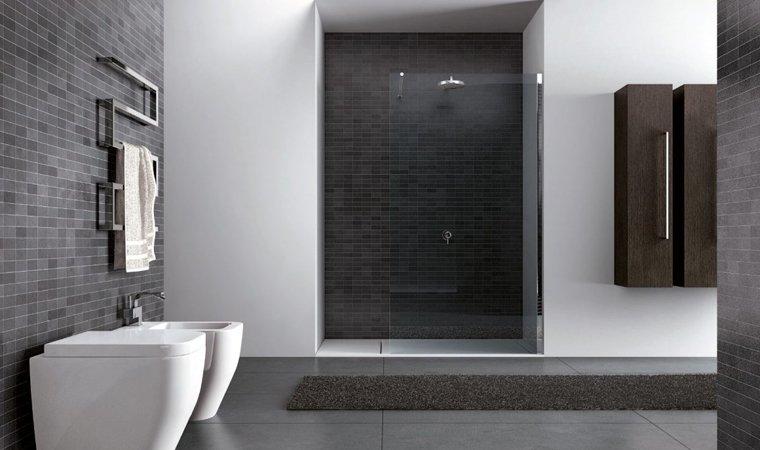 Disenia, Walk-in Parete doccia+tenda L 100 cm
