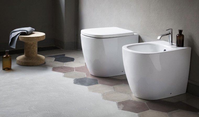Nic Design, Ovvio Coppia sanitari VANIGLIA OPACO