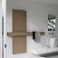Tubes, Square Scaldasalviette + maniglione 180x60 cm TORTORA PERLATO